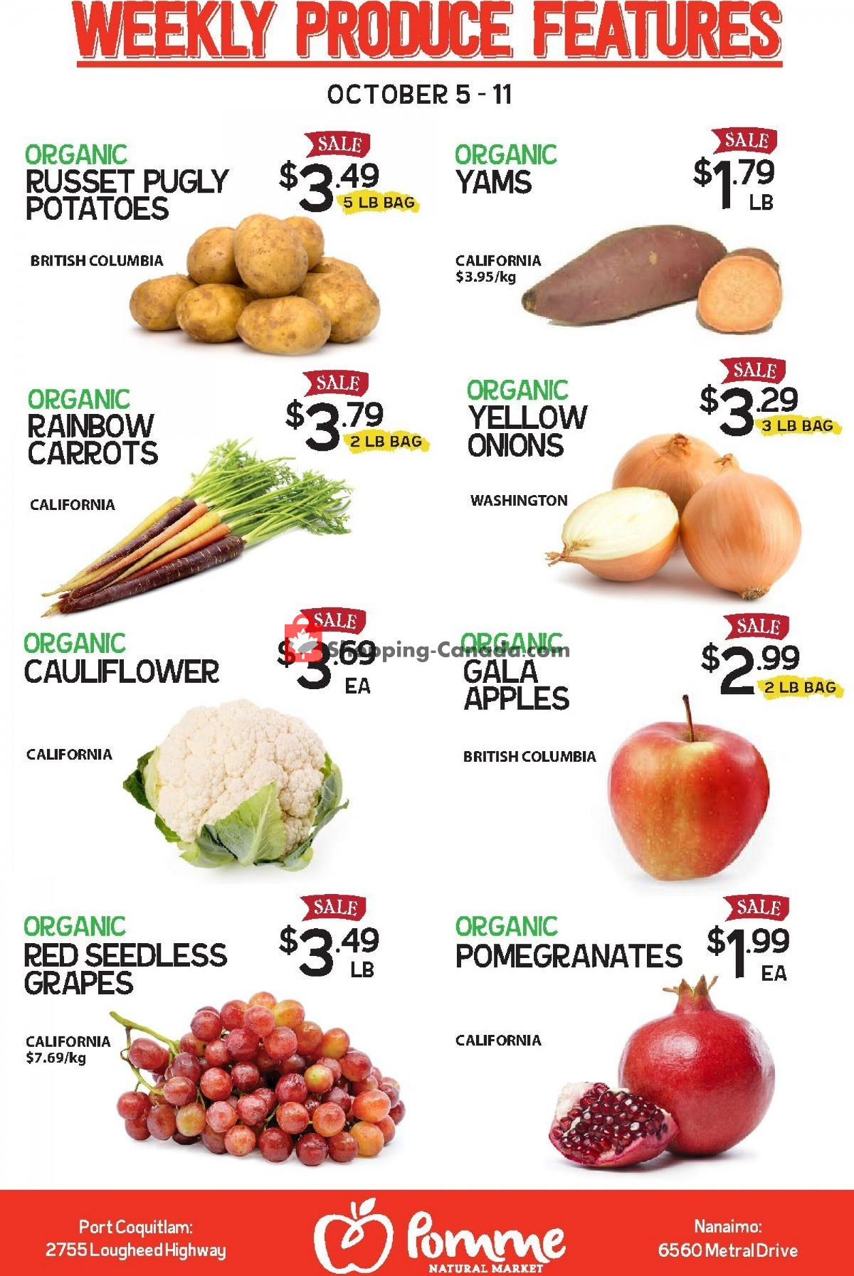Flyer Pomme Natural Market Canada - from Tuesday October 5, 2021 to Monday October 11, 2021