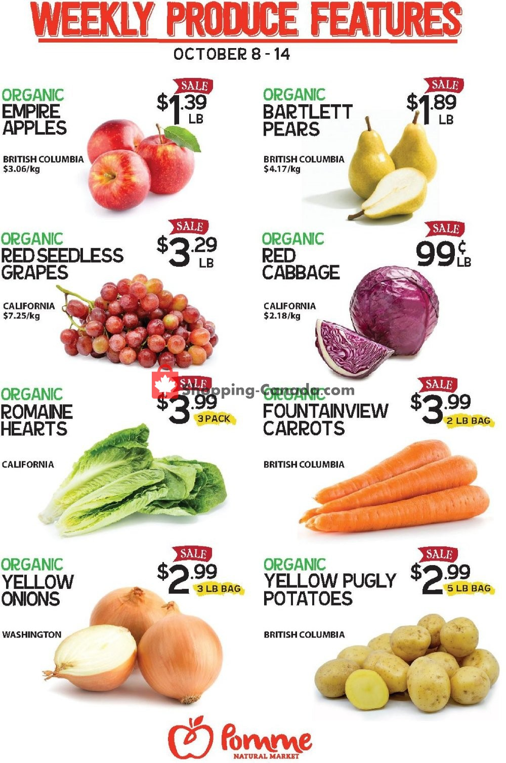 Flyer Pomme Natural Market Canada - from Tuesday October 8, 2019 to Monday October 14, 2019