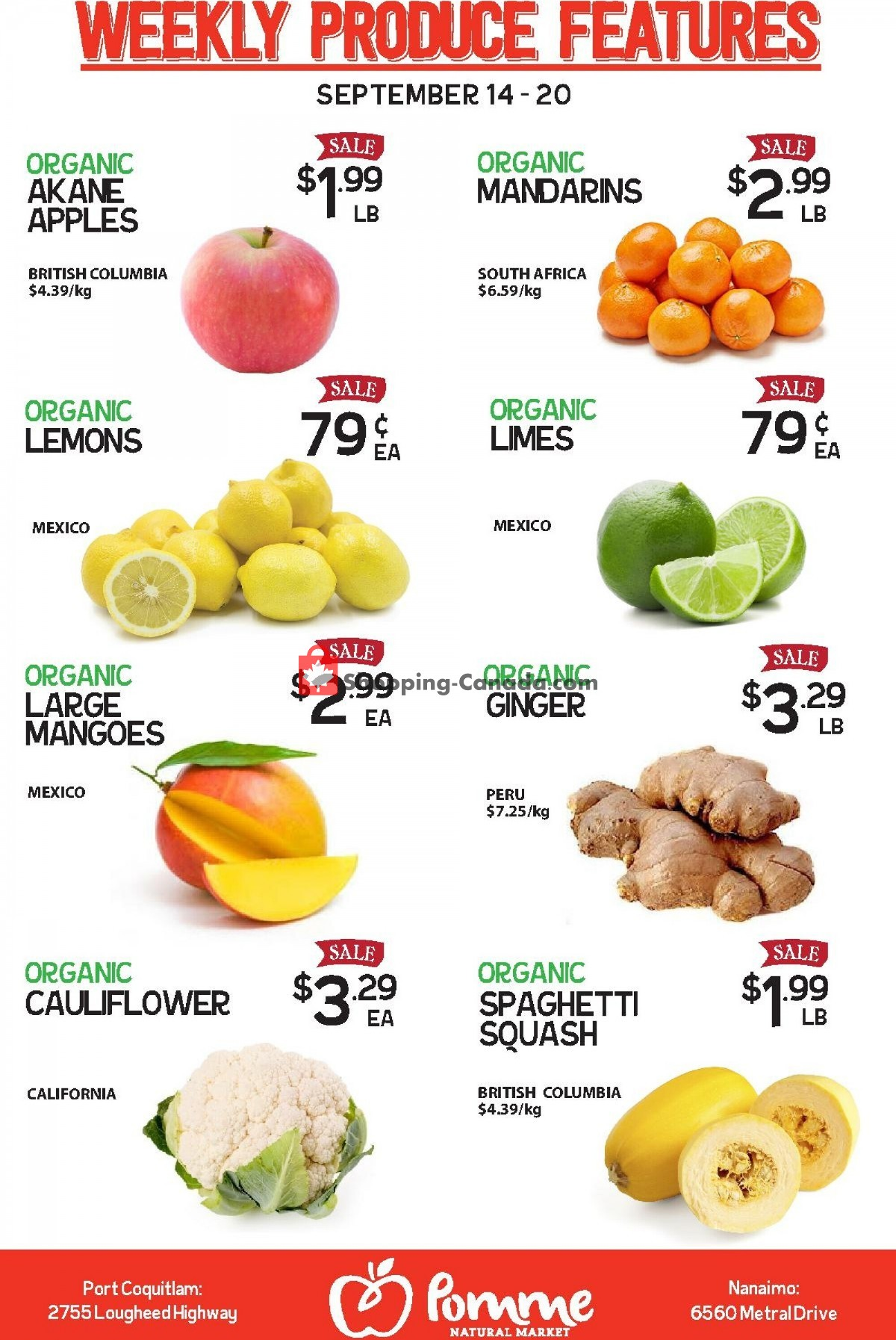 Flyer Pomme Natural Market Canada - from Tuesday September 14, 2021 to Monday September 20, 2021