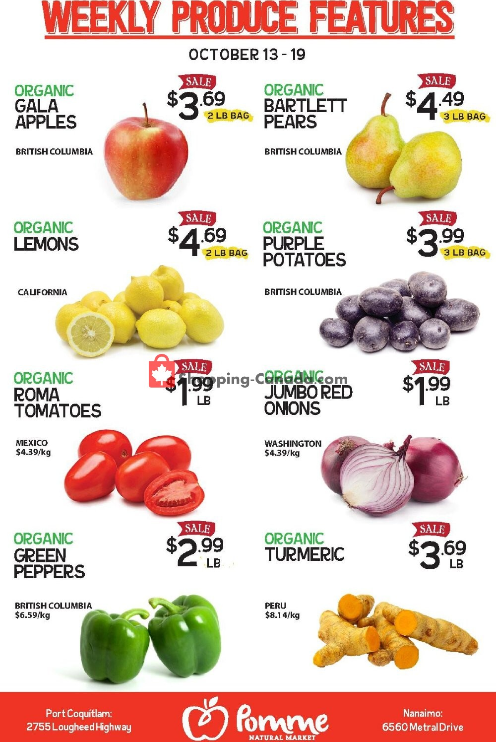 Flyer Pomme Natural Market Canada - from Tuesday October 13, 2020 to Monday October 19, 2020