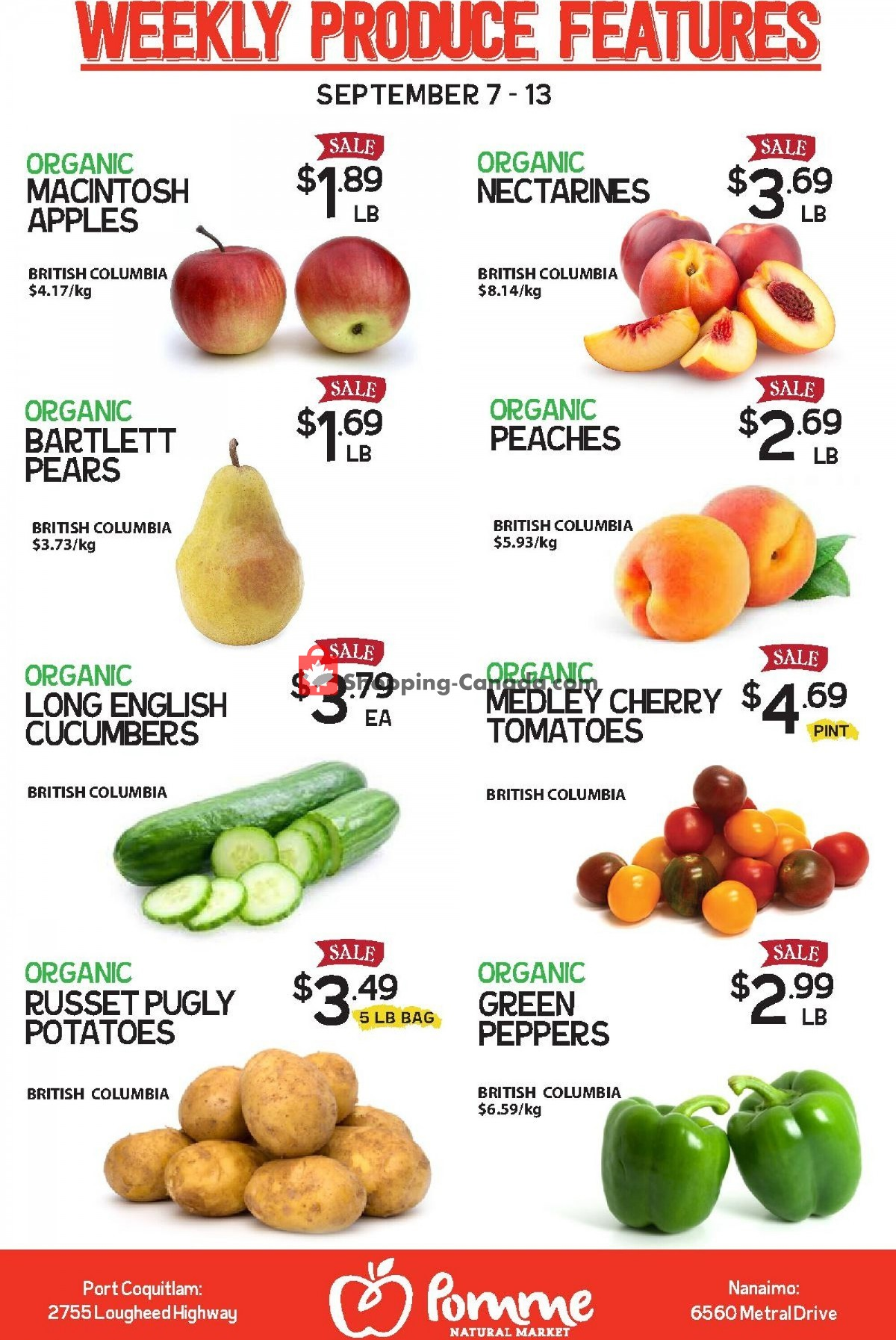 Flyer Pomme Natural Market Canada - from Tuesday September 7, 2021 to Monday September 13, 2021