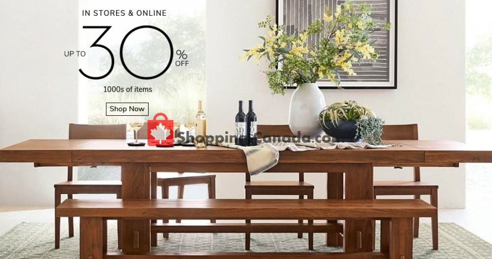 Pottery Barn Canada Flyer In Store And Online January 20 January 31 2020 Shopping Canada
