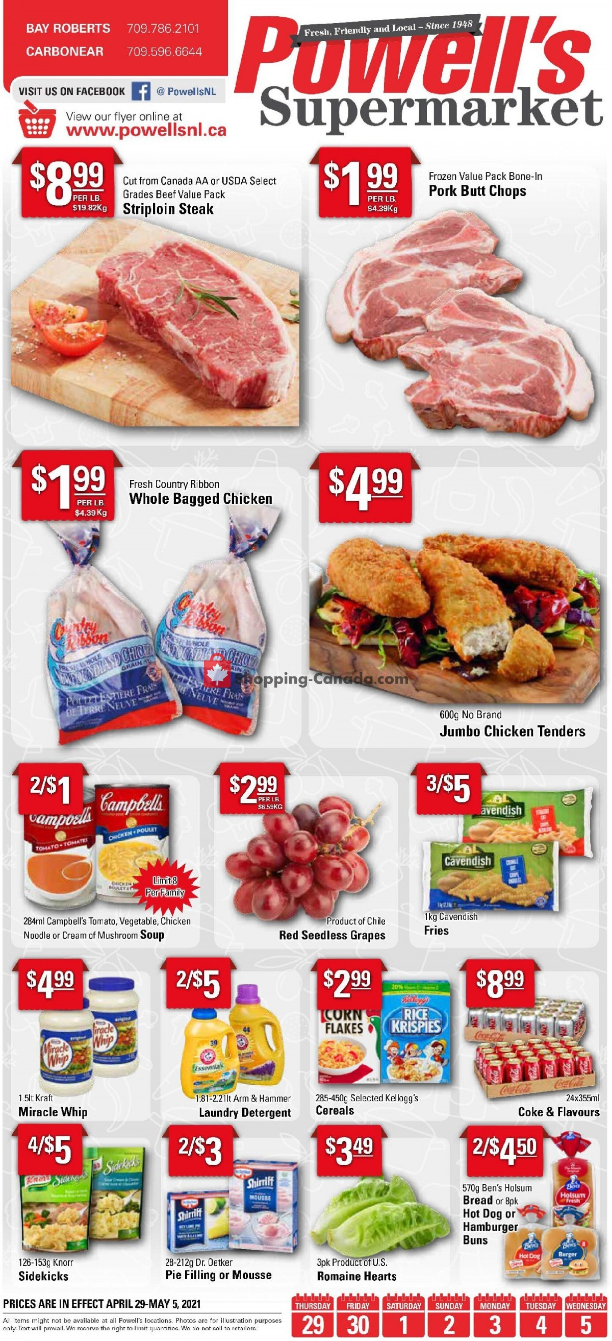 Flyer Powell's Supermarket Canada - from Thursday April 29, 2021 to Wednesday May 5, 2021