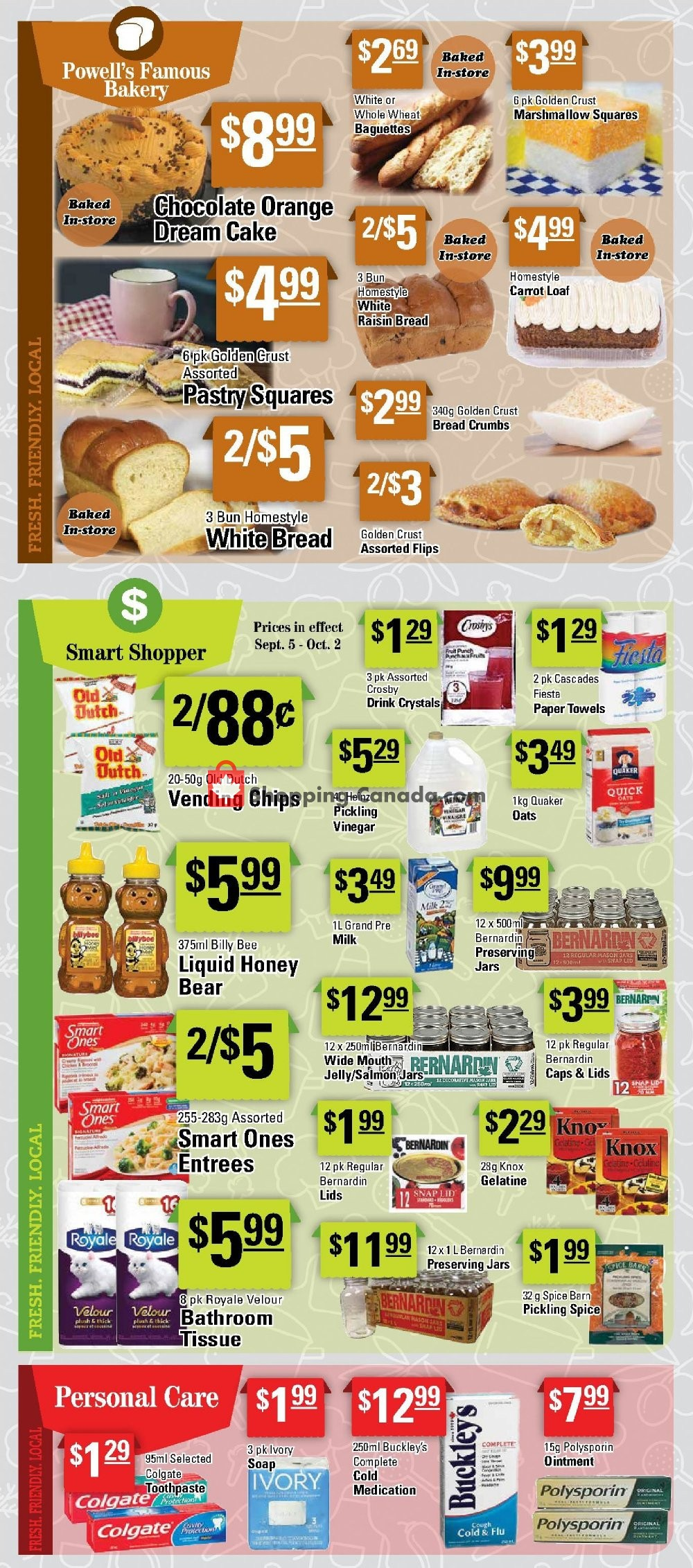 Flyer Powell's Supermarket Canada - from Thursday September 5, 2019 to Wednesday September 11, 2019