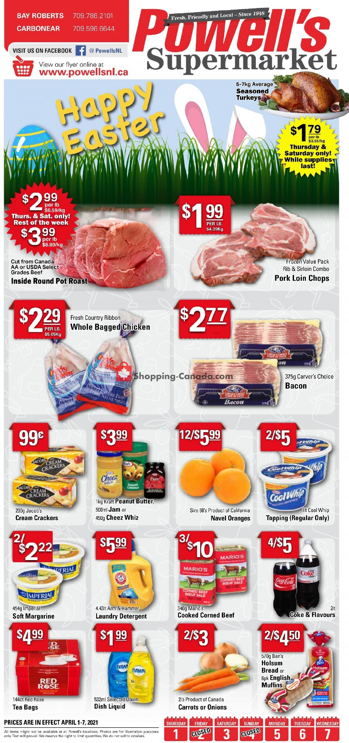 Flyer Powell's Supermarket Canada - from Thursday April 1, 2021 to Wednesday April 7, 2021