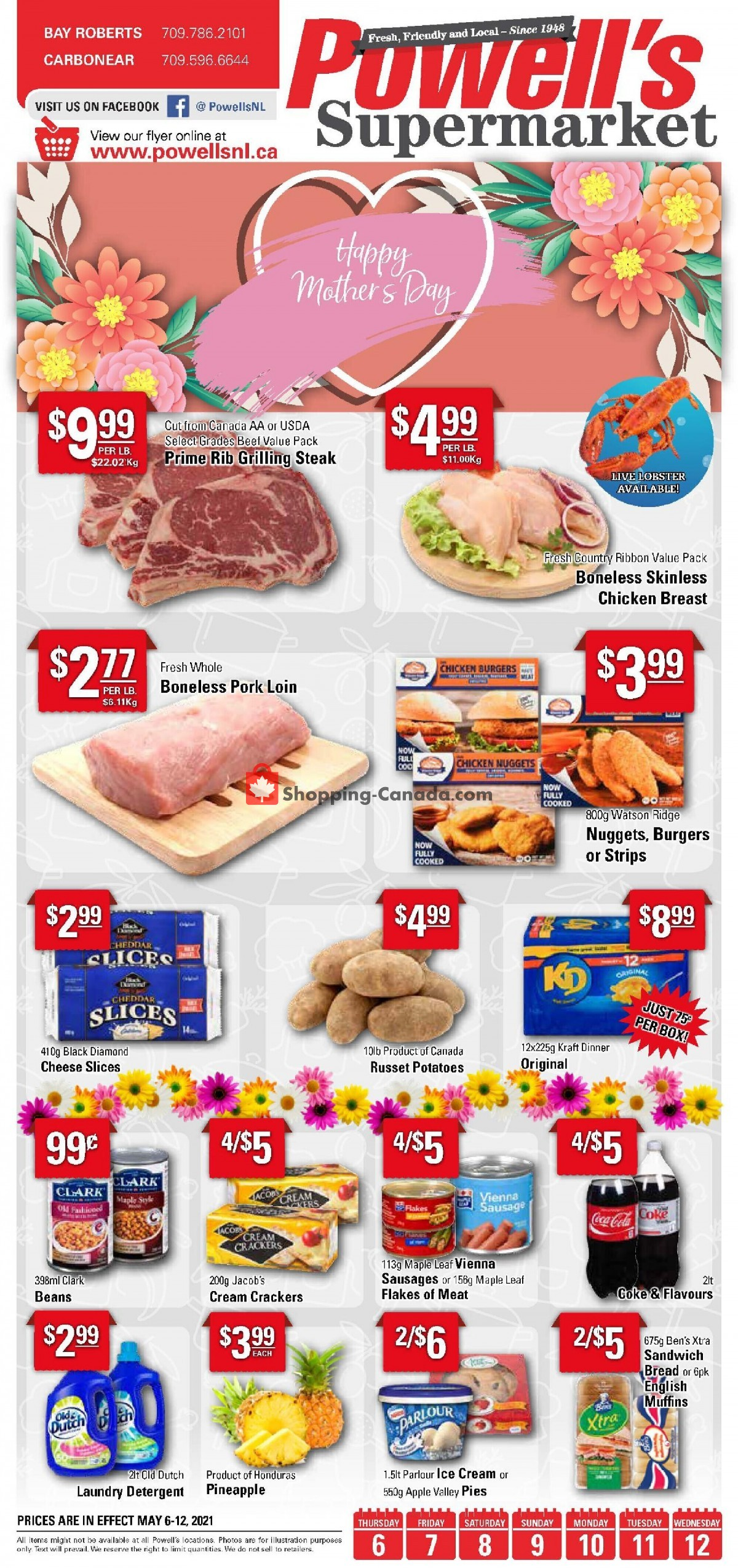 Flyer Powell's Supermarket Canada - from Thursday May 6, 2021 to Wednesday May 12, 2021