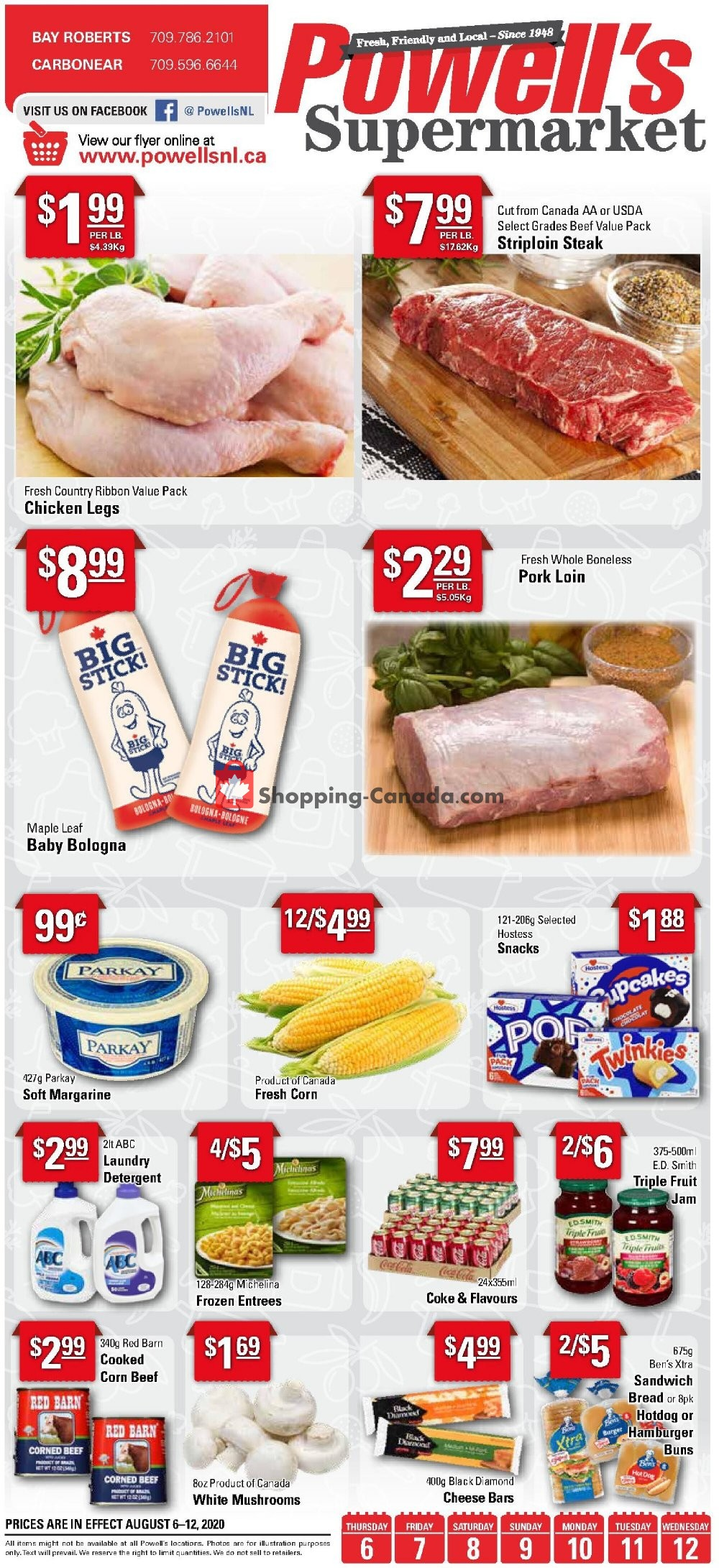 Flyer Powell's Supermarket Canada - from Thursday August 6, 2020 to Wednesday August 12, 2020