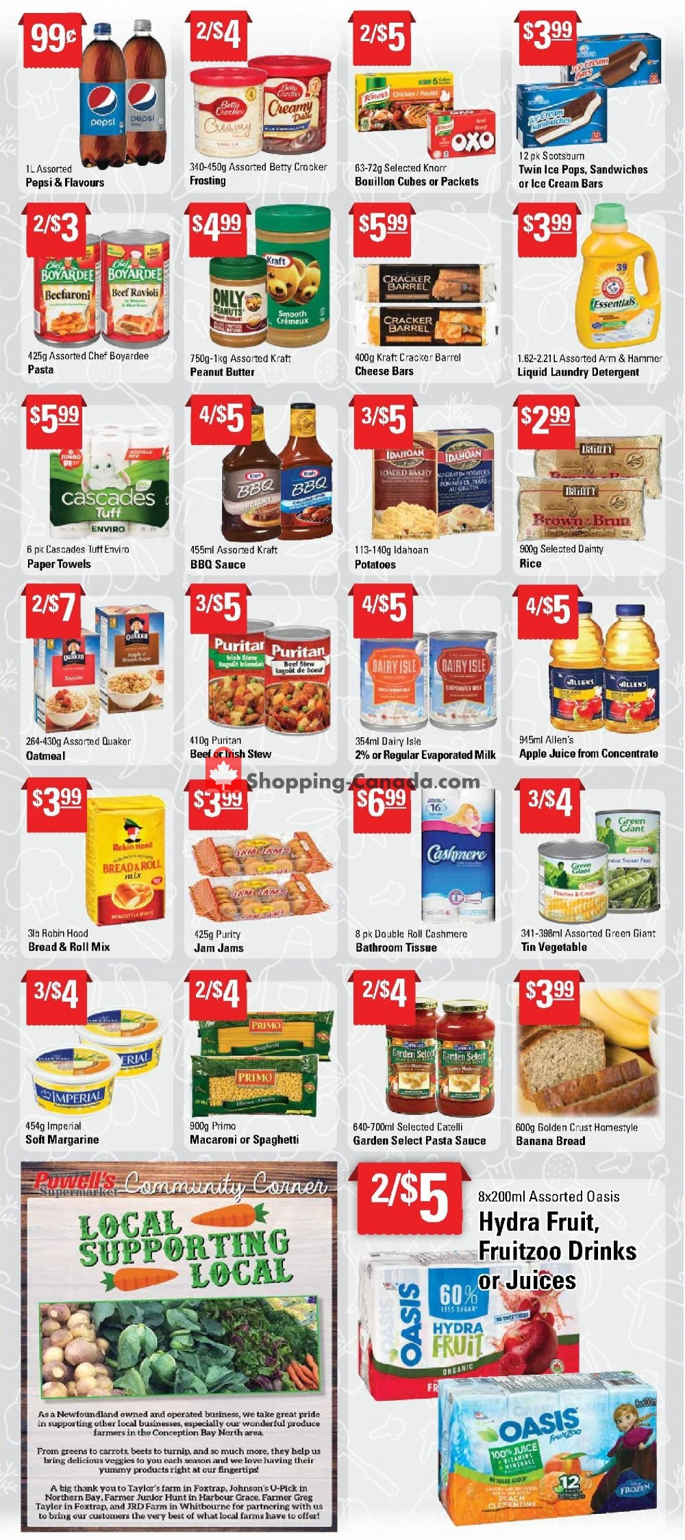 Flyer Powell's Supermarket Canada - from Thursday August 8, 2019 to Wednesday August 14, 2019