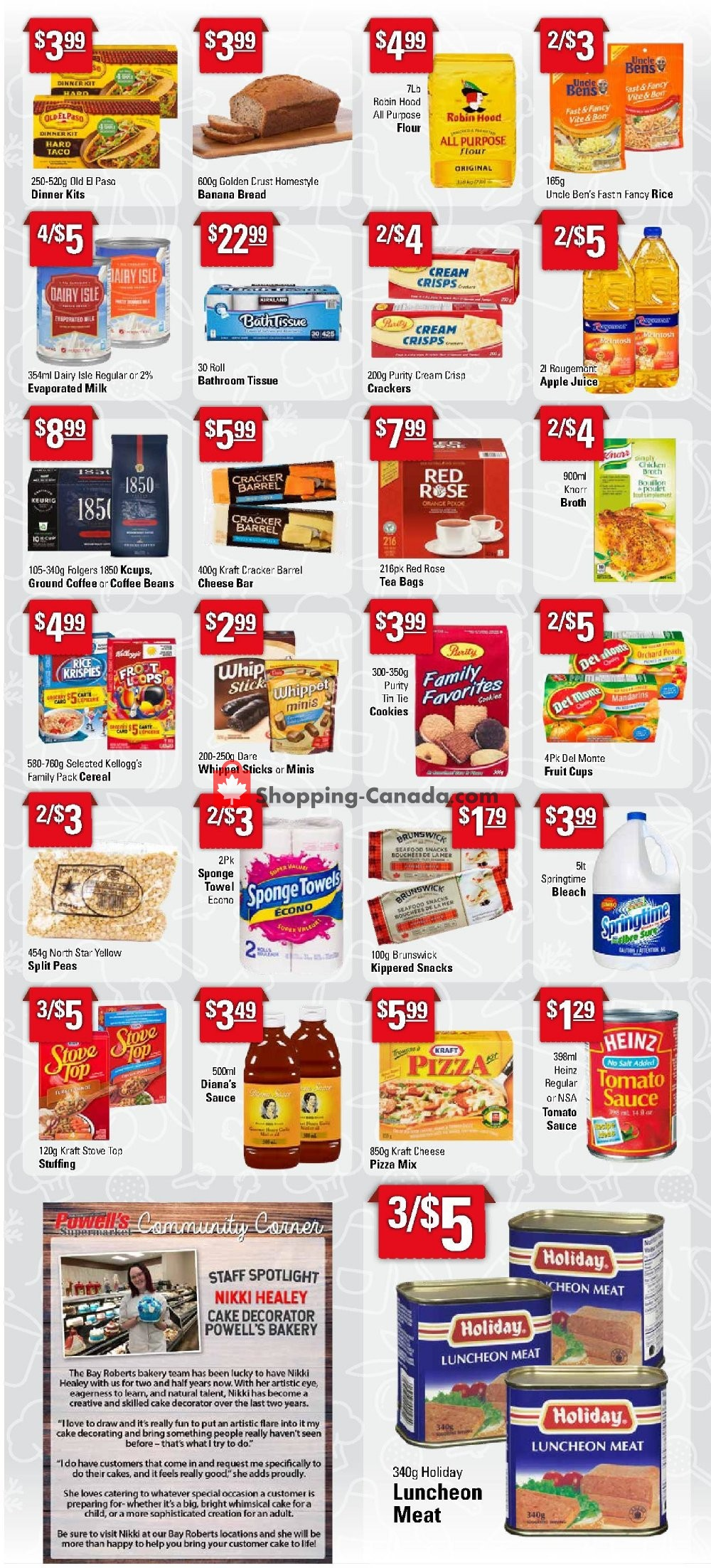 Flyer Powell's Supermarket Canada - from Thursday January 16, 2020 to Wednesday January 22, 2020