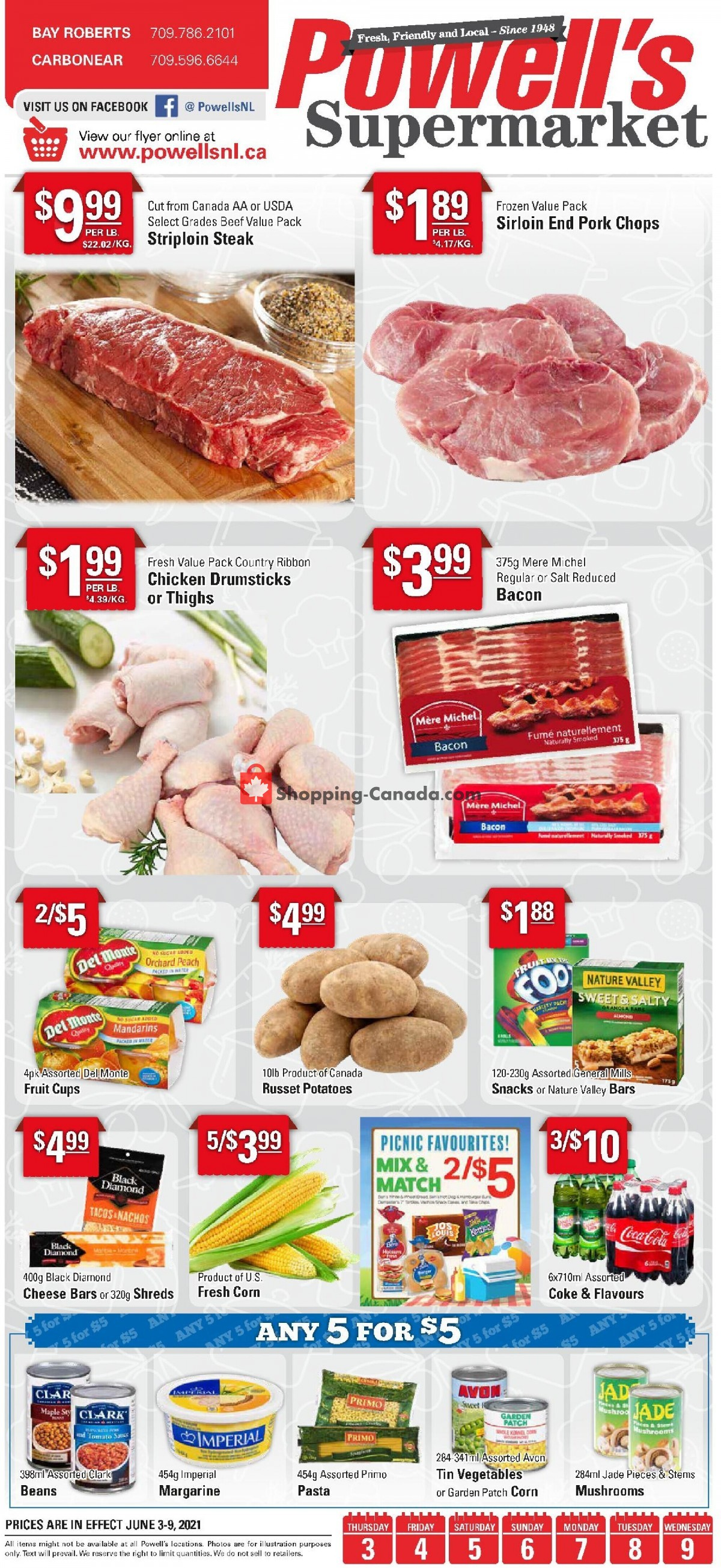 Flyer Powell's Supermarket Canada - from Thursday June 3, 2021 to Wednesday June 9, 2021