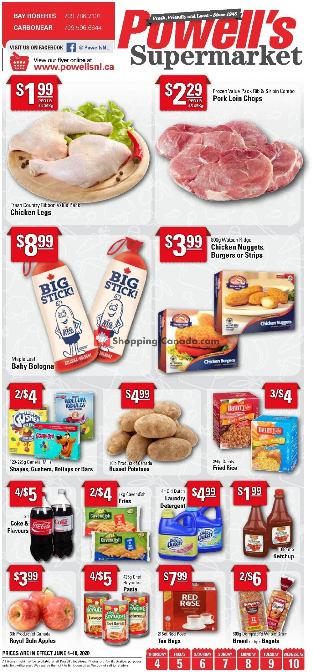 Flyer Powell's Supermarket Canada - from Thursday June 4, 2020 to Wednesday June 10, 2020