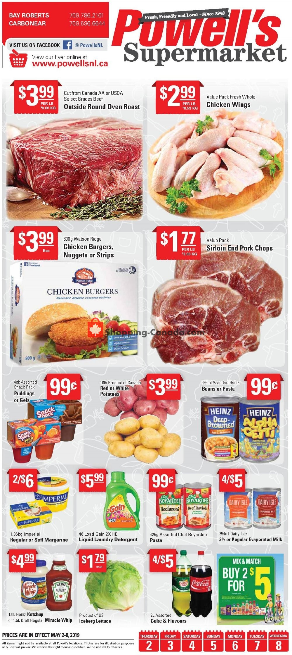 Flyer Powell's Supermarket Canada - from Thursday May 2, 2019 to Wednesday May 8, 2019