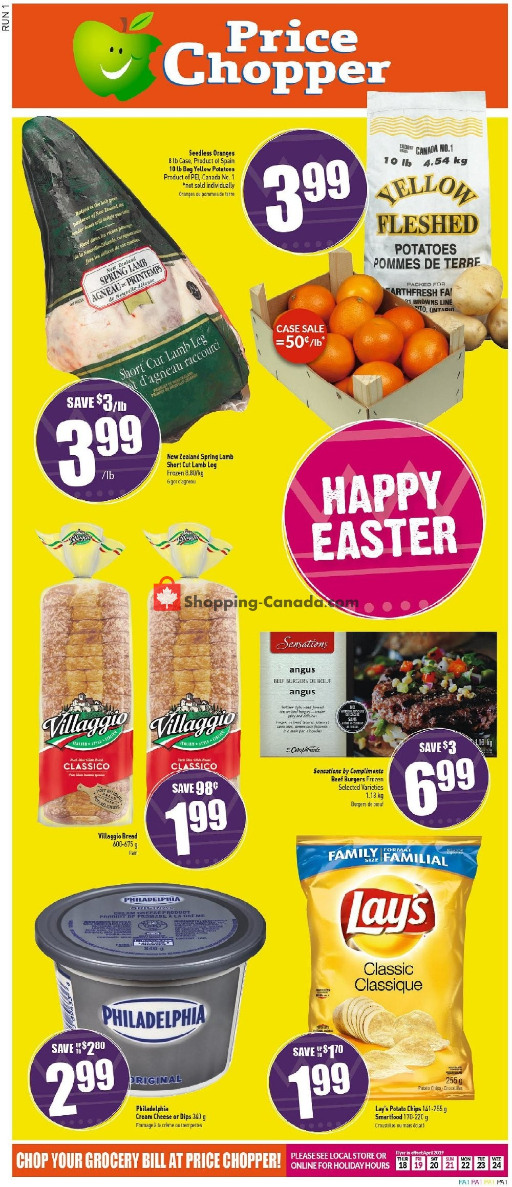 Flyer Price Chopper Canada - from Thursday April 18, 2019 to Wednesday April 24, 2019