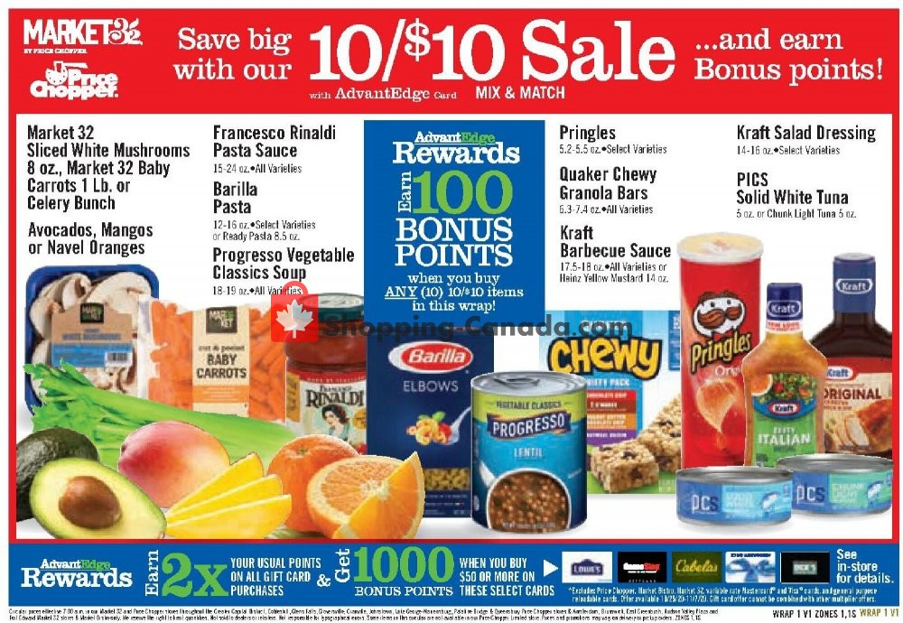 Flyer Price Chopper Canada - from Sunday October 25, 2020 to Saturday October 31, 2020