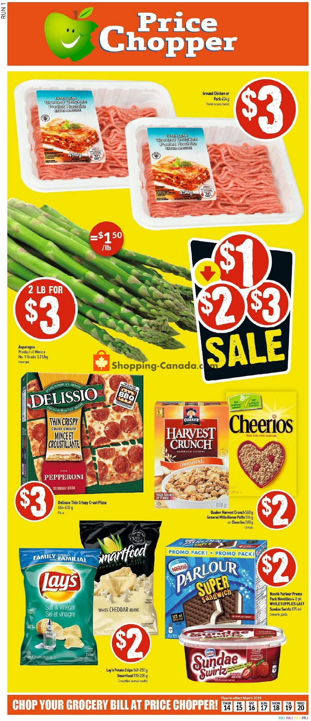Flyer Price Chopper Canada - from Thursday March 14, 2019 to Wednesday March 20, 2019