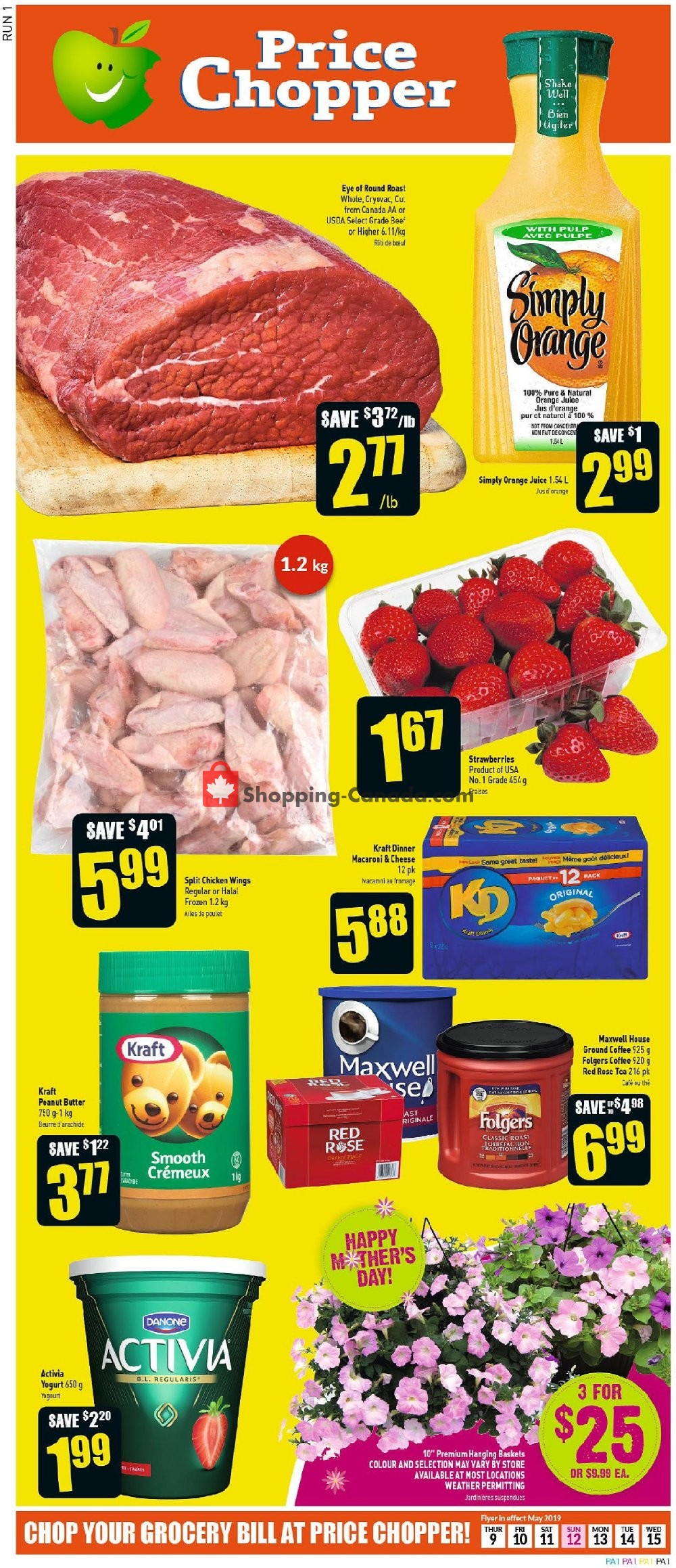 Flyer Price Chopper Canada - from Thursday May 9, 2019 to Wednesday May 15, 2019