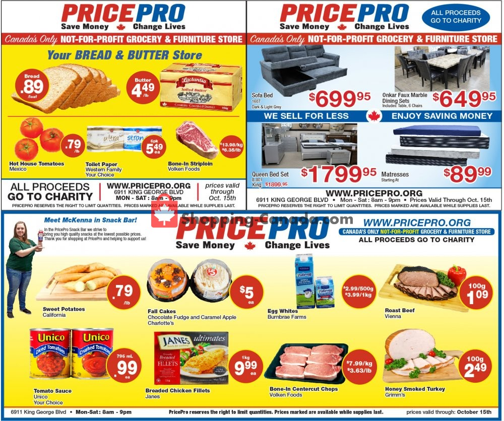 Flyer Price Pro Canada - from Wednesday October 9, 2019 to Tuesday October 15, 2019