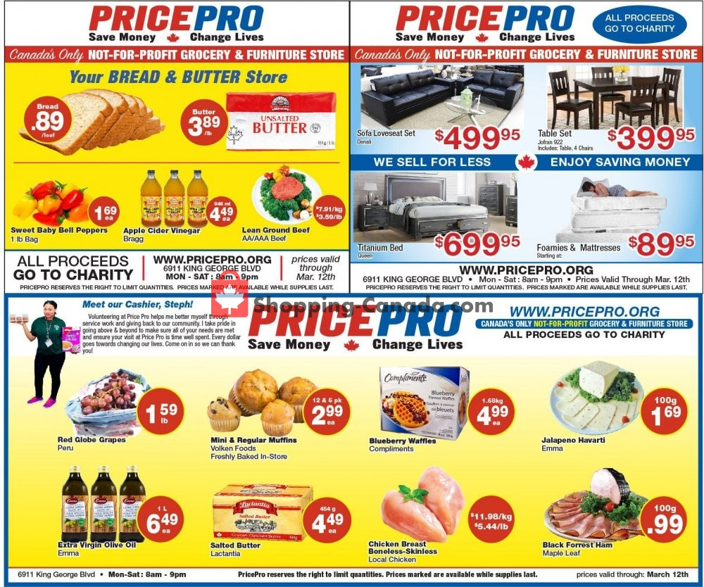 Flyer Price Pro Canada - from Wednesday March 6, 2019 to Tuesday March 12, 2019