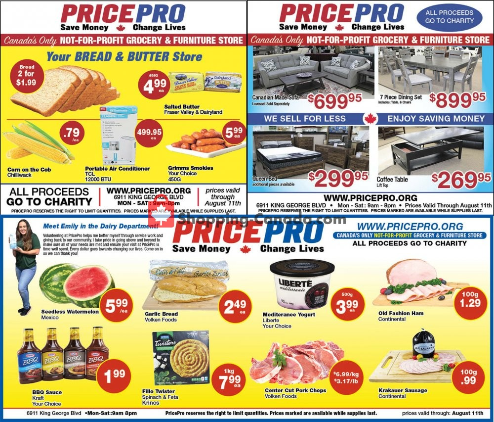 Flyer Price Pro Canada - from Wednesday August 5, 2020 to Tuesday August 11, 2020