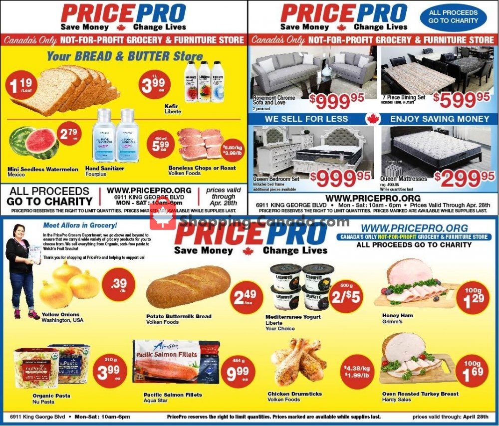 Flyer Price Pro Canada - from Wednesday April 22, 2020 to Tuesday April 28, 2020