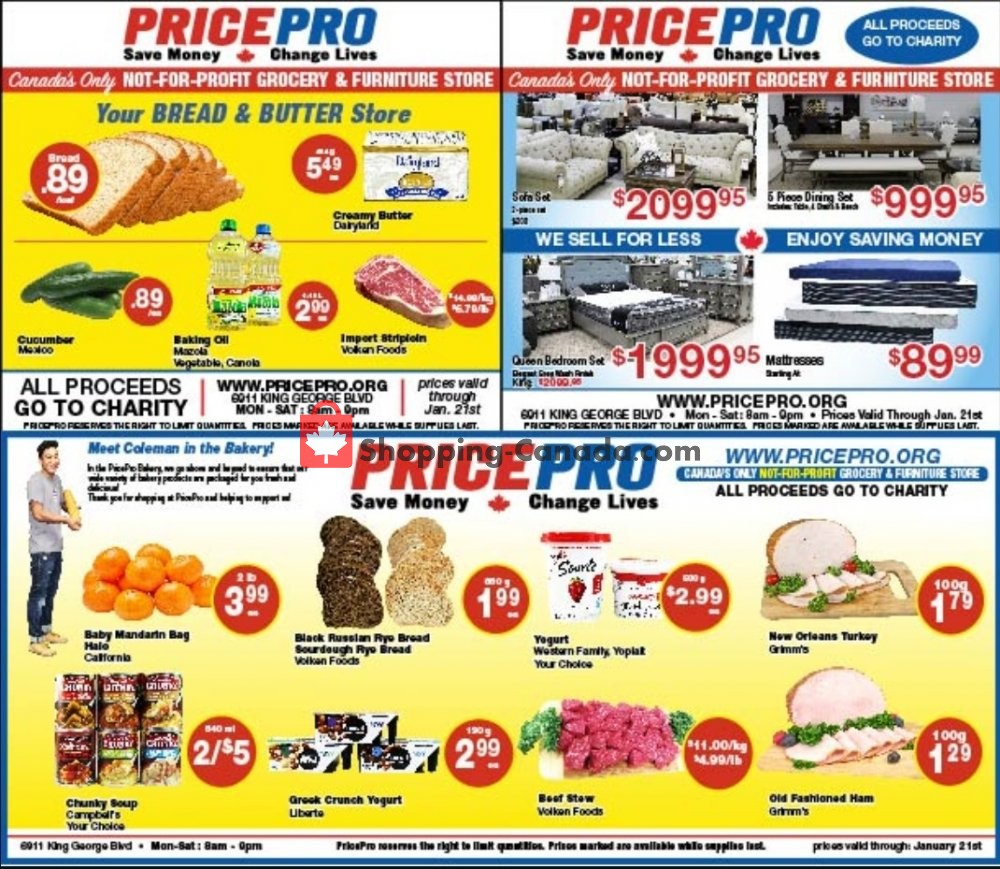 Flyer Price Pro Canada - from Wednesday January 15, 2020 to Tuesday January 21, 2020