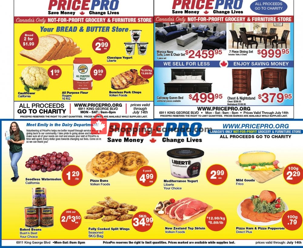Flyer Price Pro Canada - from Wednesday July 8, 2020 to Tuesday July 14, 2020