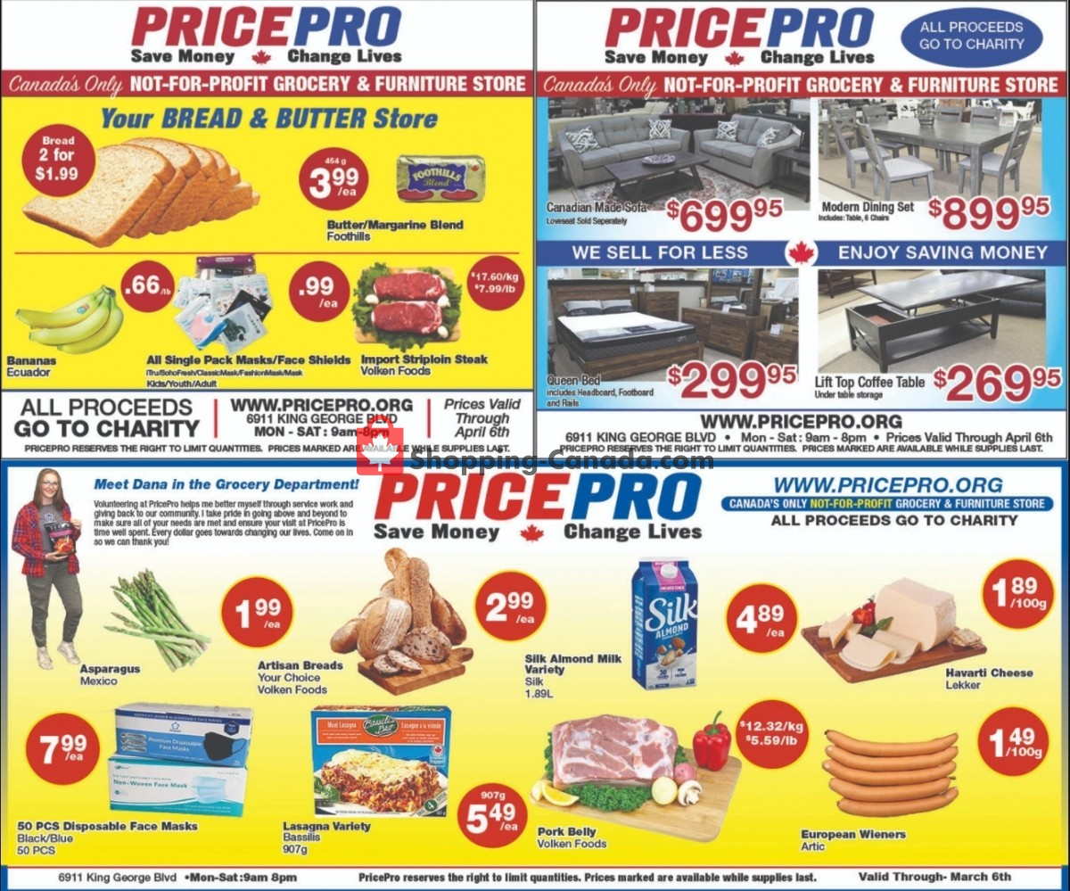 Flyer Price Pro Canada - from Wednesday March 31, 2021 to Tuesday April 6, 2021