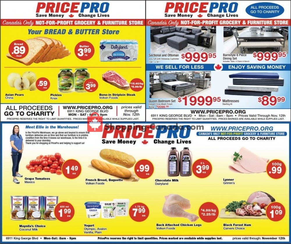Flyer Price Pro Canada - from Wednesday November 6, 2019 to Tuesday November 12, 2019