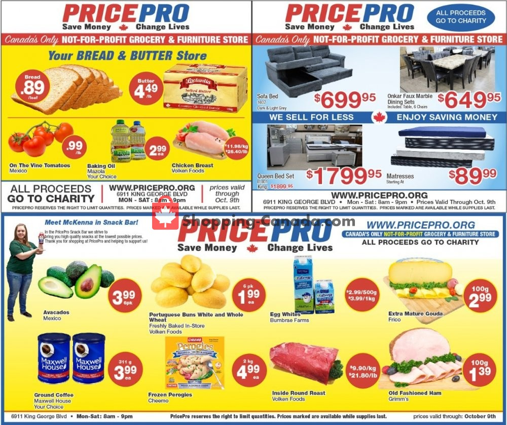 Flyer Price Pro Canada - from Thursday October 3, 2019 to Wednesday October 9, 2019