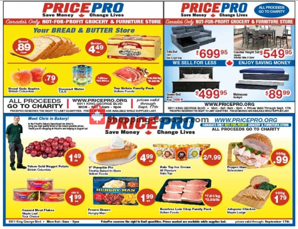 Flyer Price Pro Canada - from Wednesday September 11, 2019 to Tuesday September 17, 2019