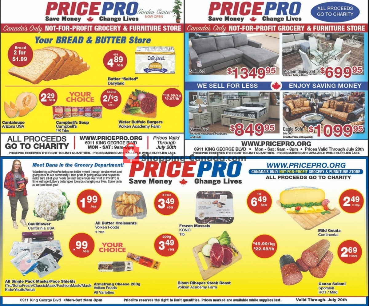 Flyer Price Pro Canada - from Wednesday July 14, 2021 to Tuesday July 20, 2021