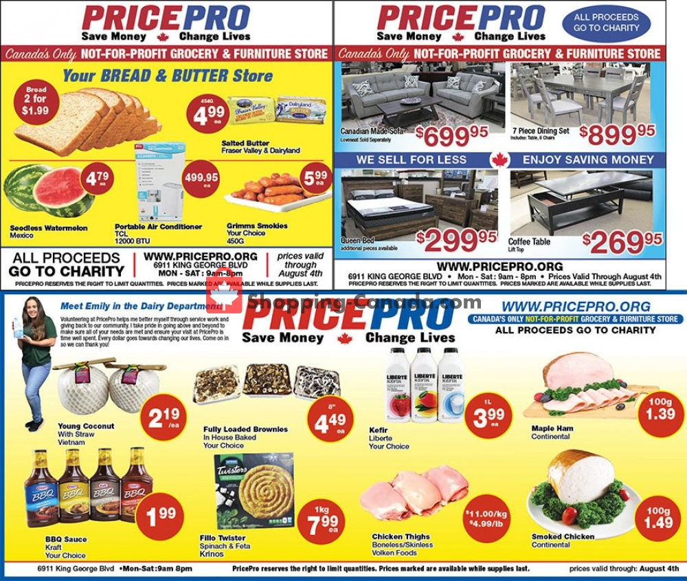 Flyer Price Pro Canada - from Wednesday July 29, 2020 to Tuesday August 4, 2020