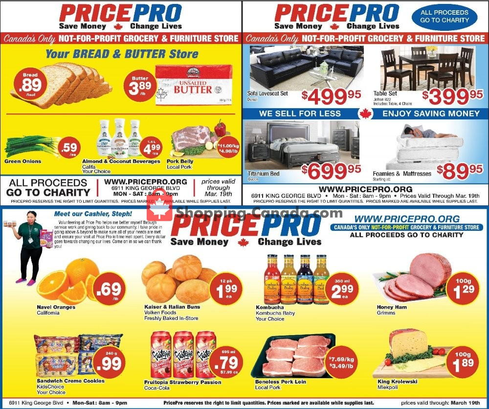 Flyer Price Pro Canada - from Wednesday March 13, 2019 to Tuesday March 19, 2019