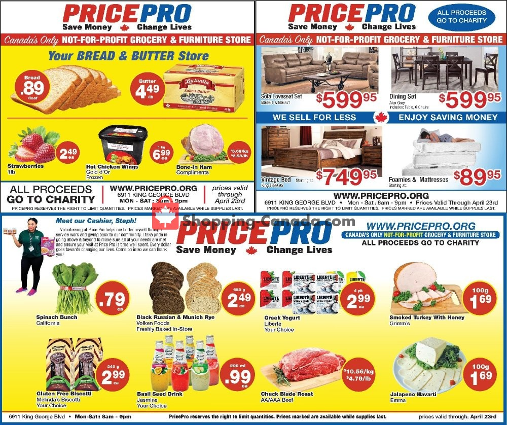 Flyer Price Pro Canada - from Wednesday April 17, 2019 to Tuesday April 23, 2019