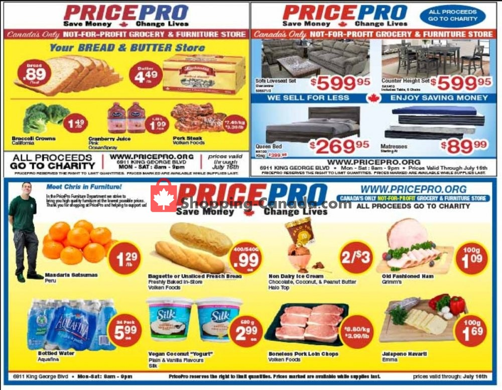 Flyer Price Pro Canada - from Wednesday July 10, 2019 to Tuesday July 16, 2019
