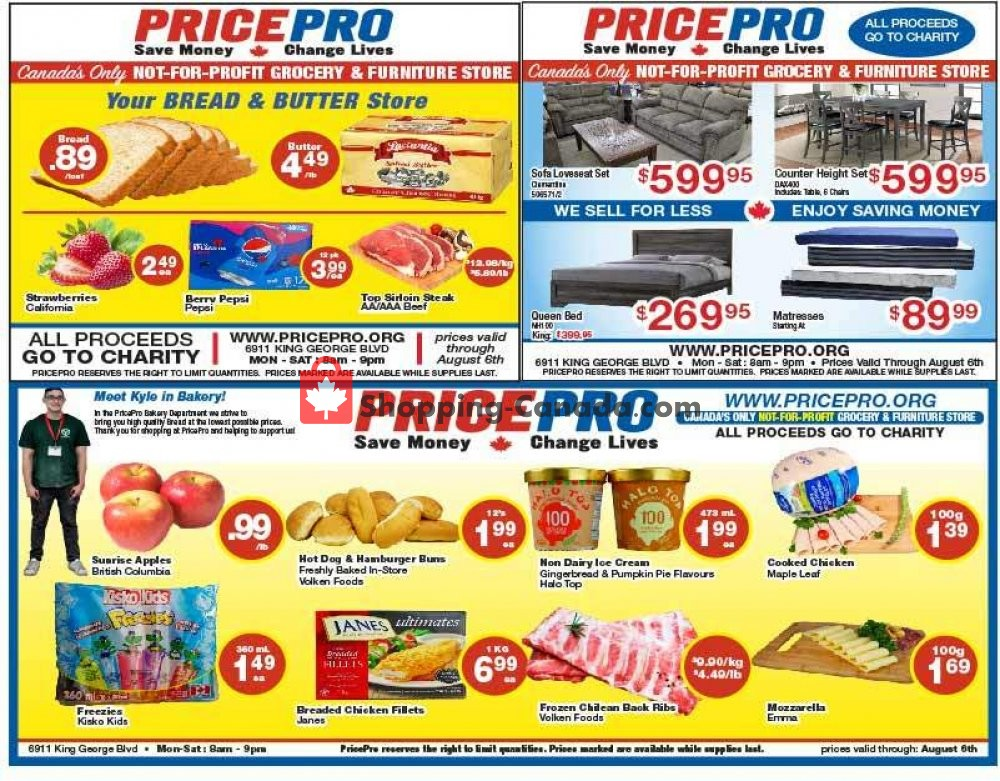 Flyer Price Pro Canada - from Wednesday July 31, 2019 to Tuesday August 6, 2019