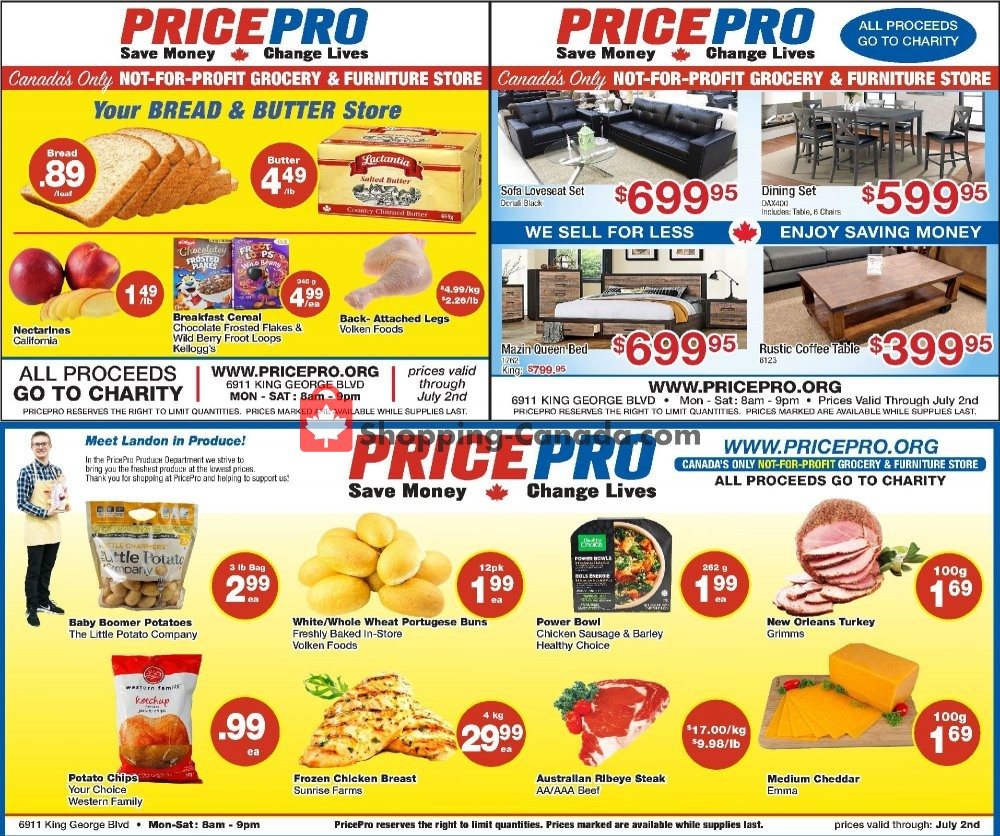 Flyer Price Pro Canada - from Wednesday June 26, 2019 to Tuesday July 2, 2019