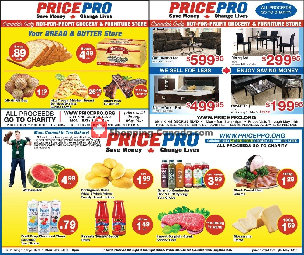 Flyer Price Pro Canada - from Wednesday May 8, 2019 to Tuesday May 14, 2019