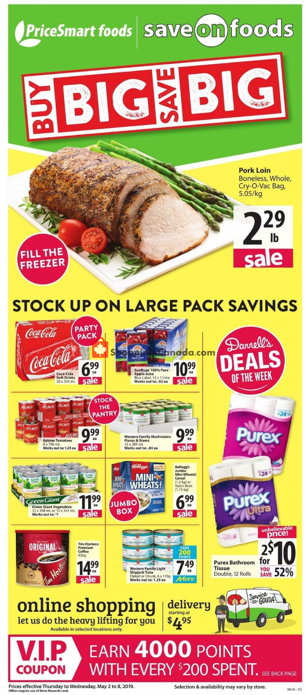 Flyer PriceSmart Foods Canada - from Thursday May 2, 2019 to Wednesday May 8, 2019