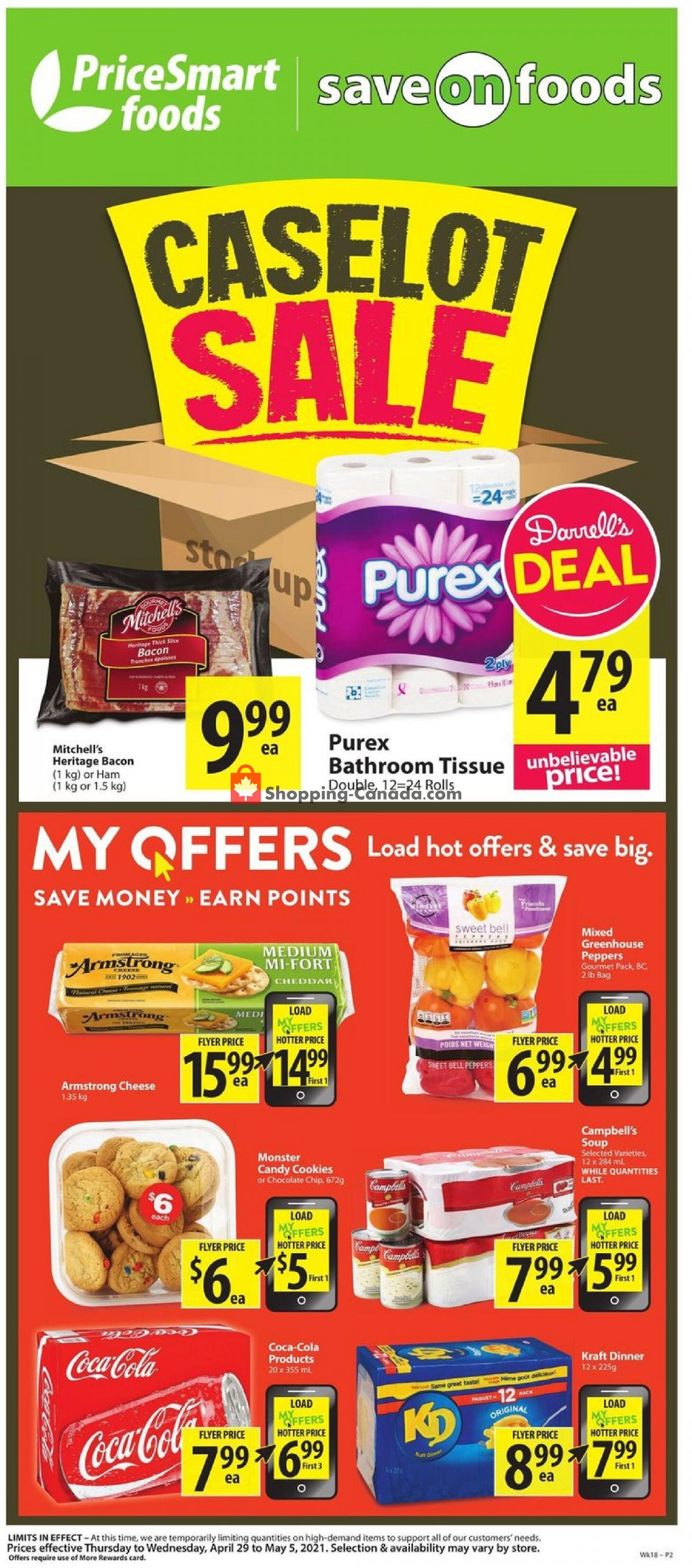Flyer PriceSmart Foods Canada - from Thursday April 29, 2021 to Wednesday May 5, 2021