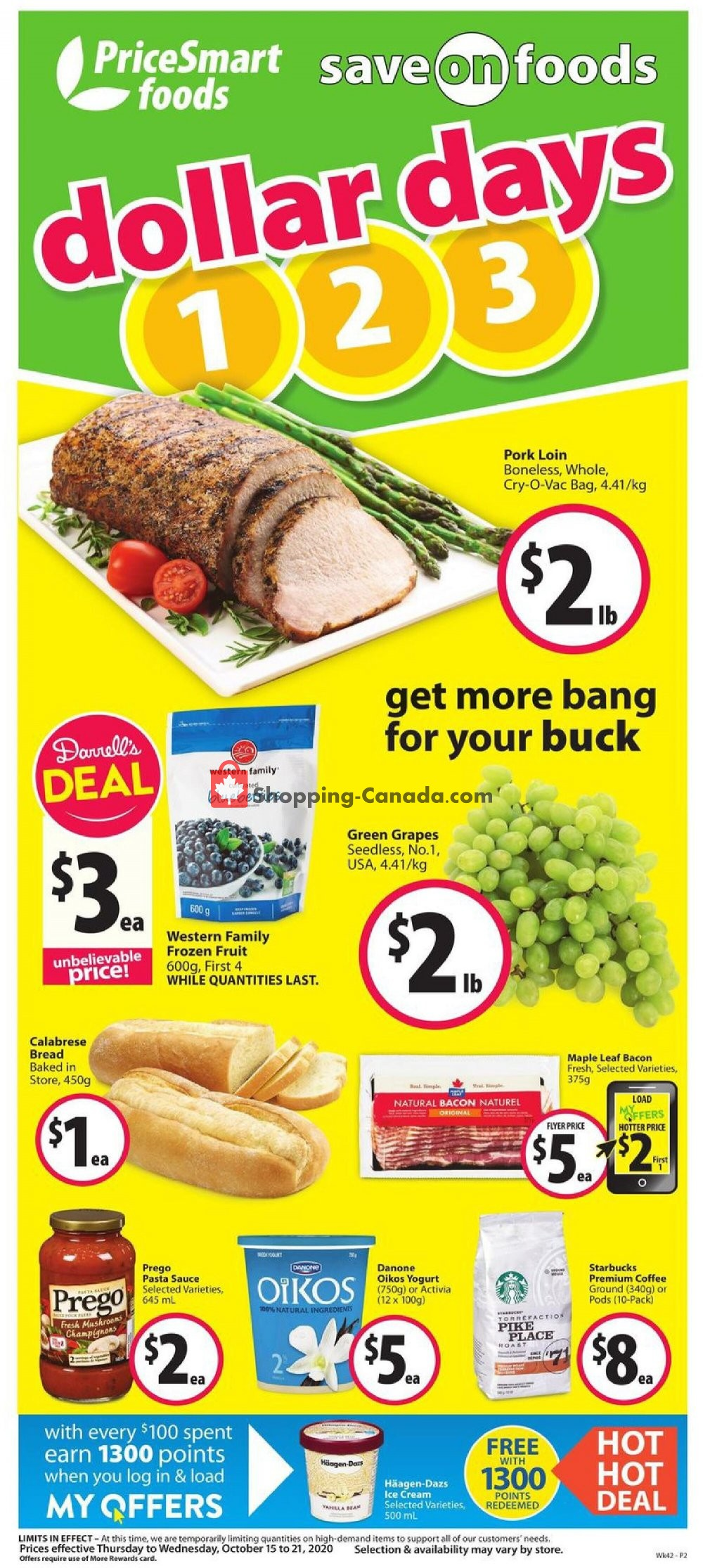 Flyer PriceSmart Foods Canada - from Thursday October 15, 2020 to Wednesday October 21, 2020