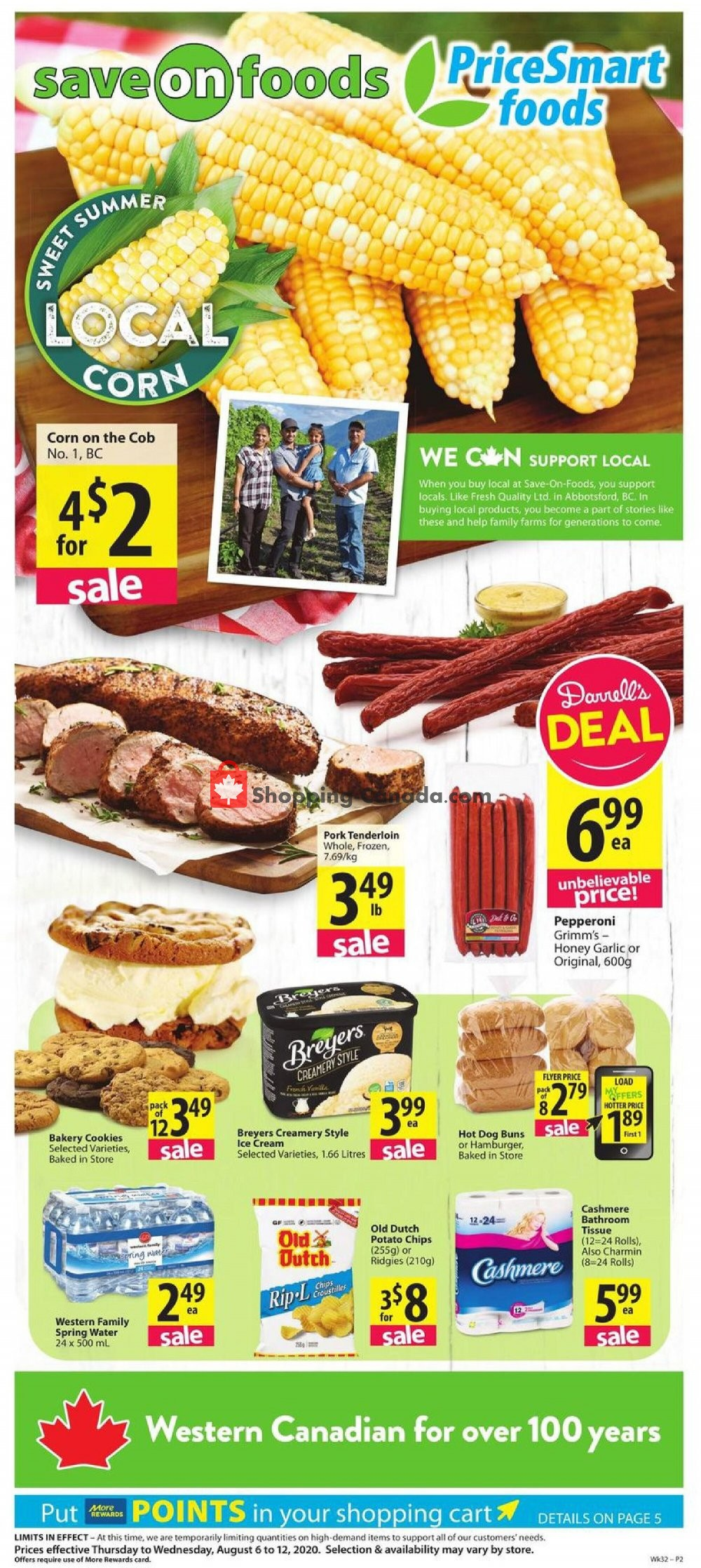 Flyer PriceSmart Foods Canada - from Thursday August 6, 2020 to Wednesday August 12, 2020