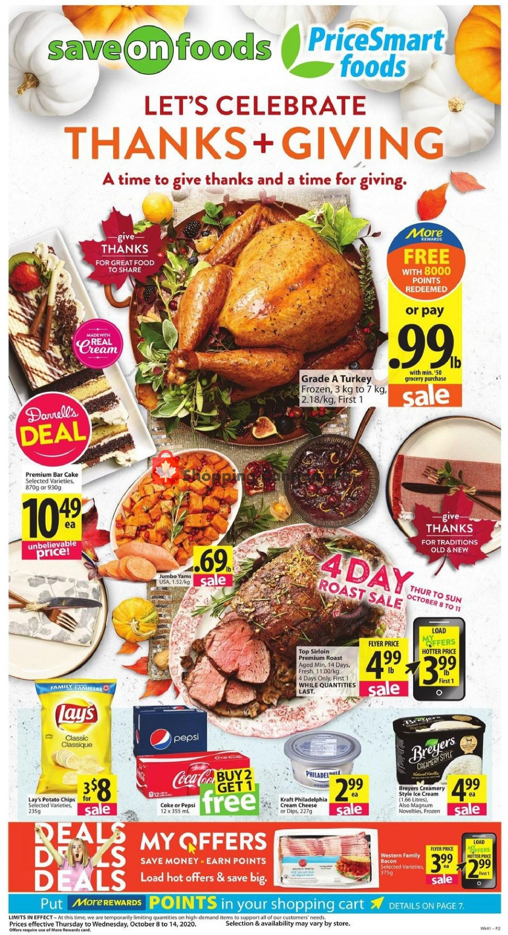 Flyer PriceSmart Foods Canada - from Thursday October 8, 2020 to Wednesday October 14, 2020
