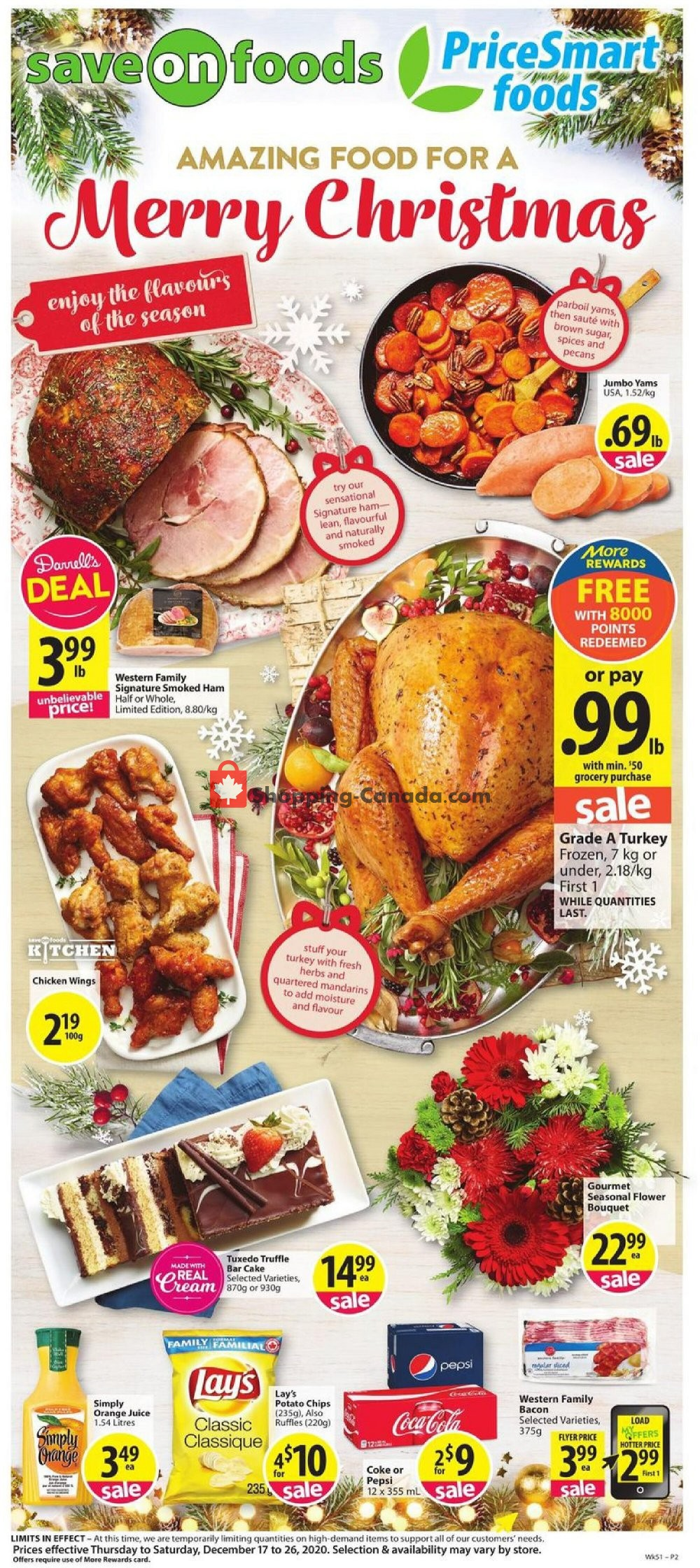 Flyer PriceSmart Foods Canada - from Thursday December 17, 2020 to Saturday December 26, 2020