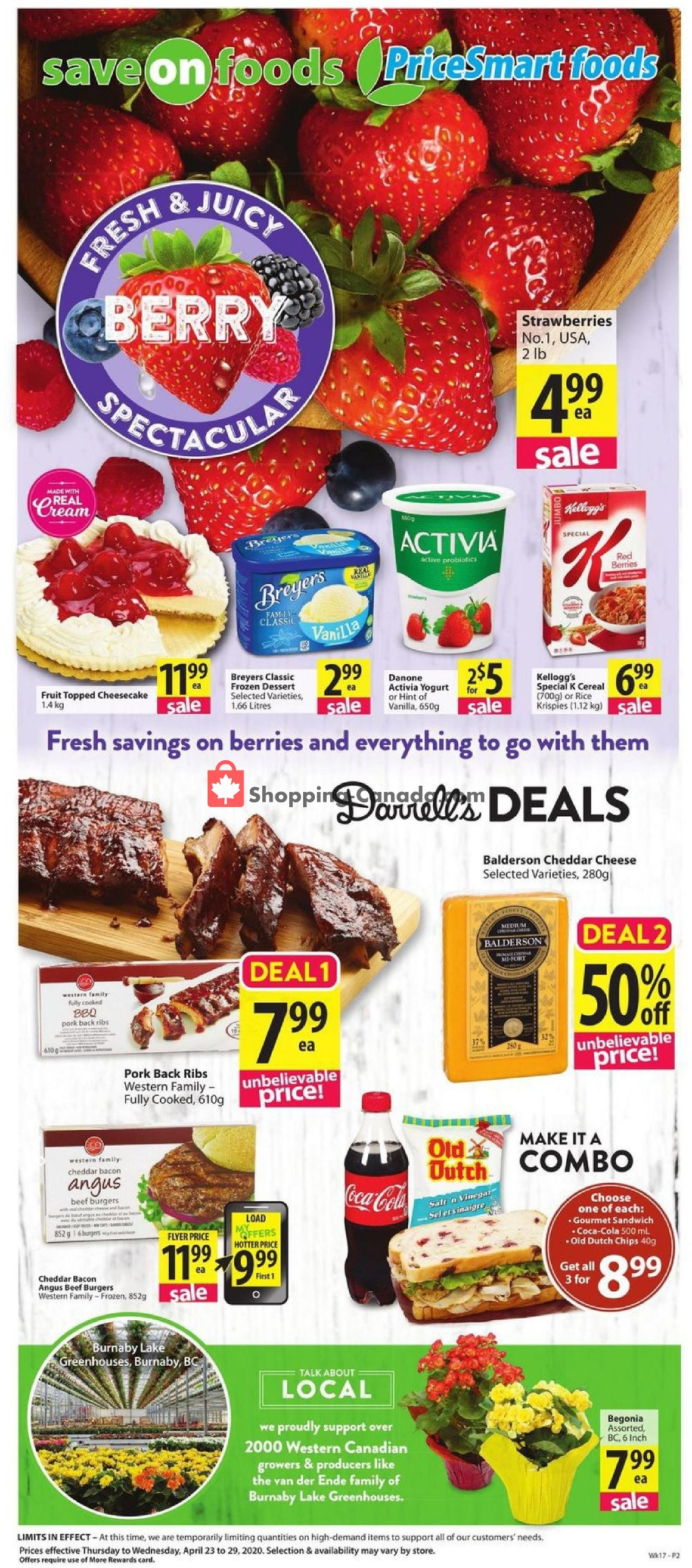 Flyer PriceSmart Foods Canada - from Thursday April 23, 2020 to Wednesday April 29, 2020