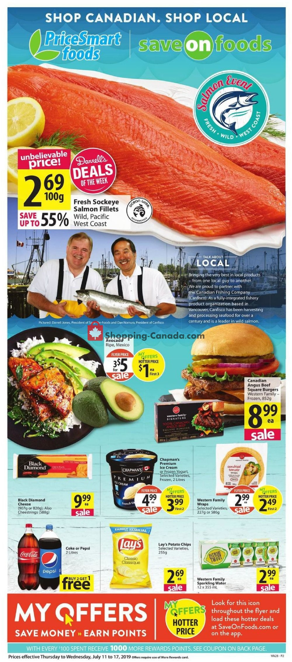 Flyer PriceSmart Foods Canada - from Thursday July 11, 2019 to Wednesday July 17, 2019