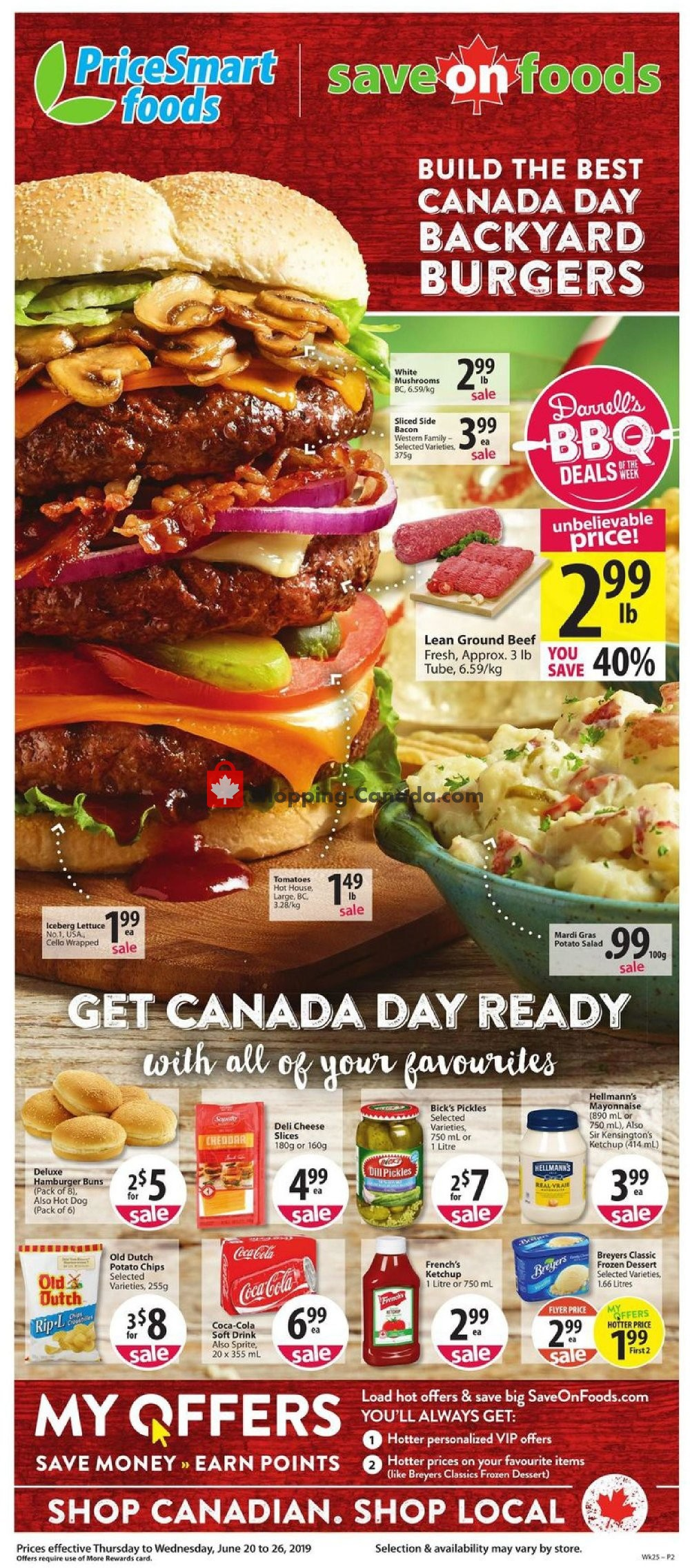 Flyer PriceSmart Foods Canada - from Thursday June 20, 2019 to Wednesday June 26, 2019
