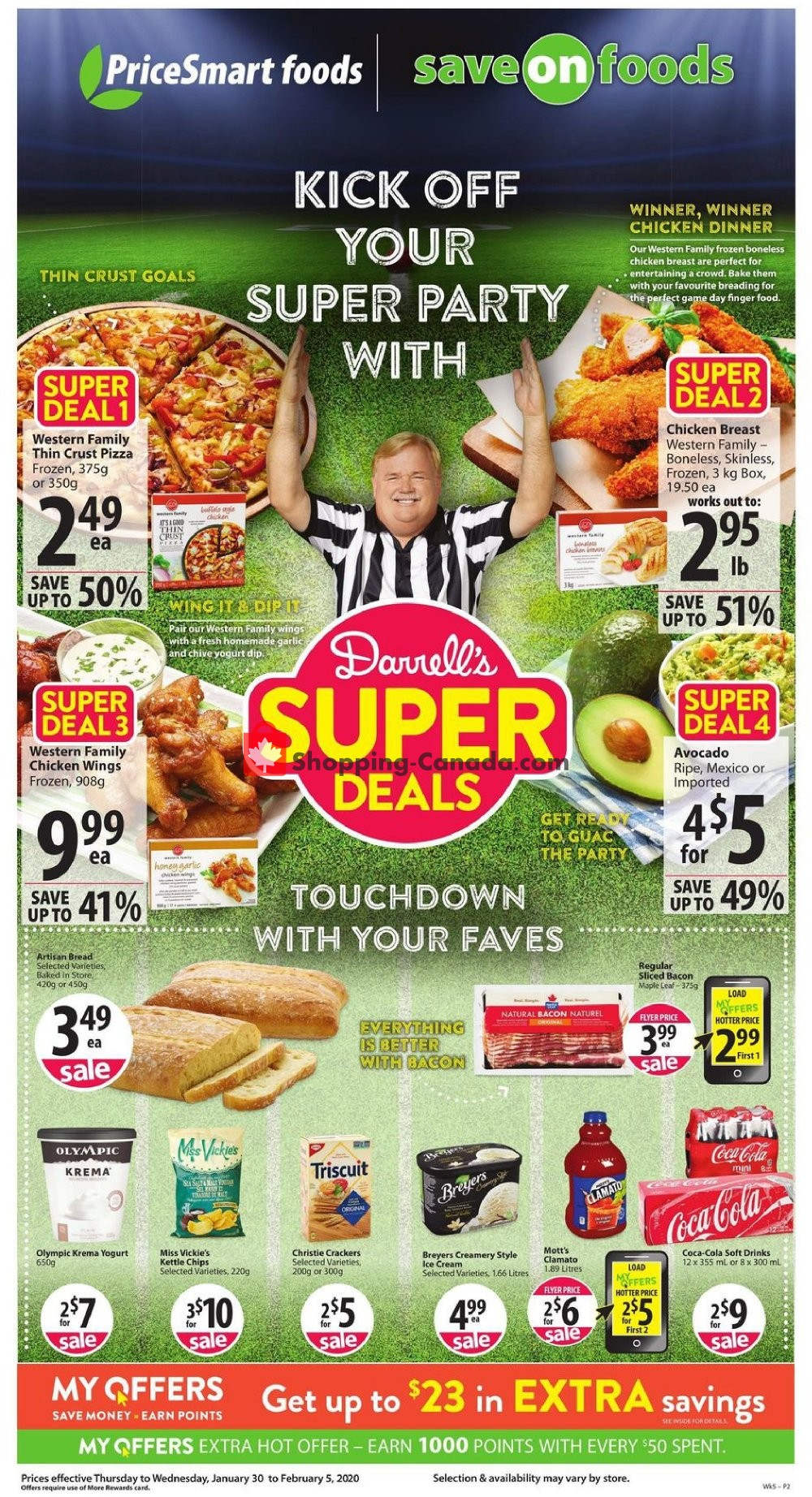 Flyer PriceSmart Foods Canada - from Thursday January 30, 2020 to Wednesday February 5, 2020