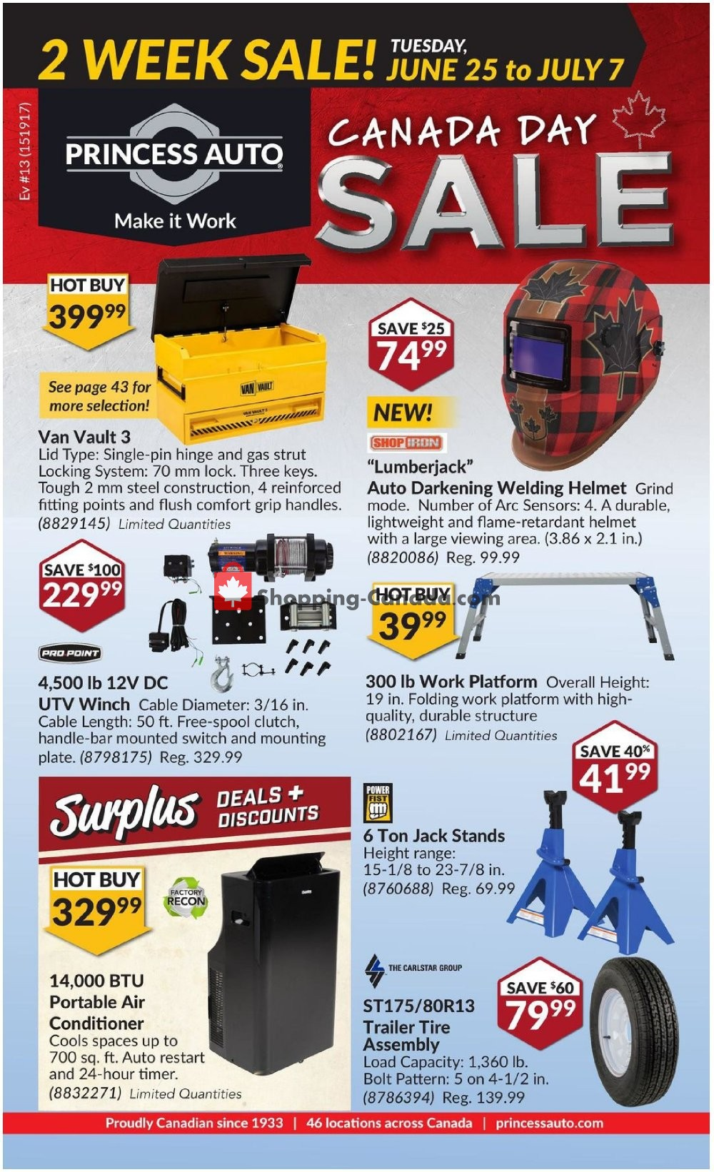 Flyer Princess Auto Canada - from Tuesday June 25, 2019 to Sunday July 7, 2019