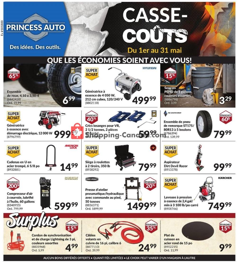 Flyer Princess Auto Canada - from Friday May 1, 2020 to Sunday May 31, 2020